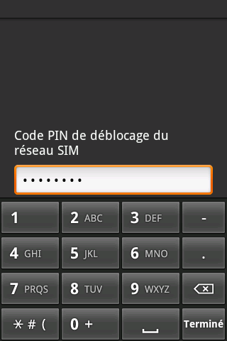 Déblocage HTC Dream