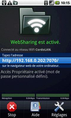 [SOFT] WEBSHARING : Accédez au contenu de votre smartphone Android en réseau [Gratuit] Ws14