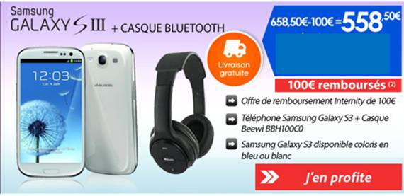 smartphone france android edition petite offre promotionnelle sur le samsung galaxy s3. Black Bedroom Furniture Sets. Home Design Ideas